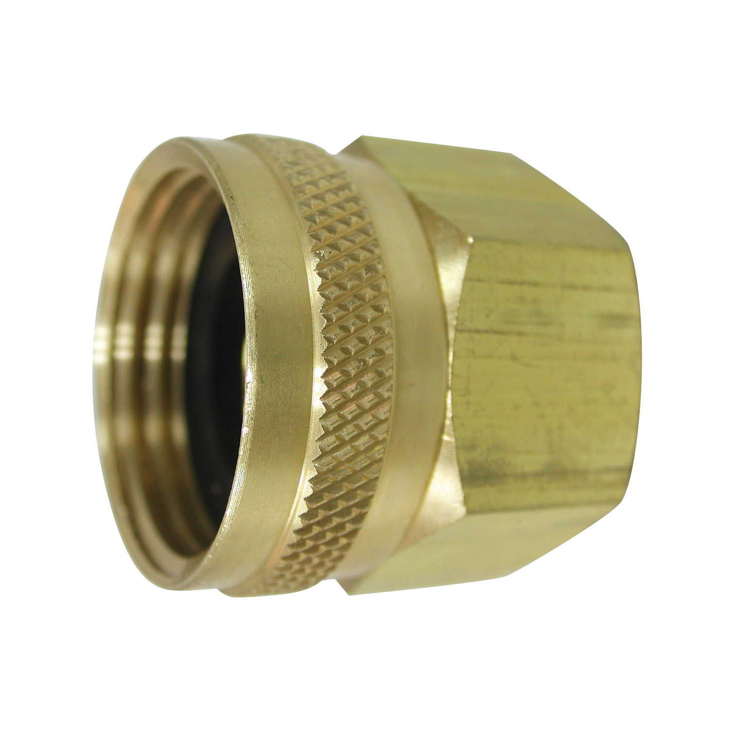 Picture of Landscapers Select PMB-055-3LC Hose Adapter, 3/4 x 3/4 in, FHT x FIP, Brass, Brass, For: Garden Hose