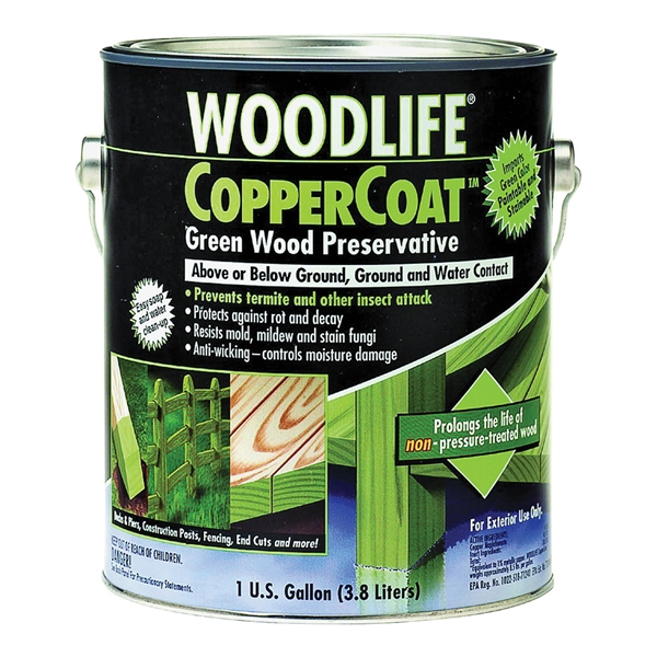 Picture of WOLMAN WoodLife CopperCoat 1901A Wood Preservative, Green, Liquid, 1 gal, Can
