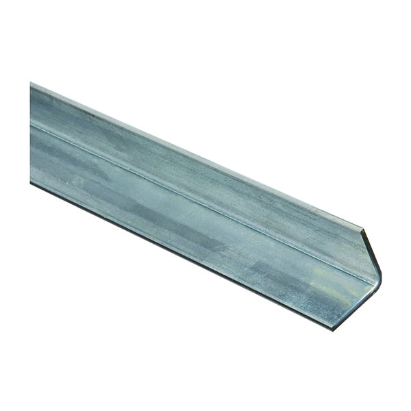 Picture of Stanley Hardware 4010BC Series 179978 Solid Angle, 1-1/4 in L Leg, 72 in L, 0.12 in Thick, Galvanized Steel