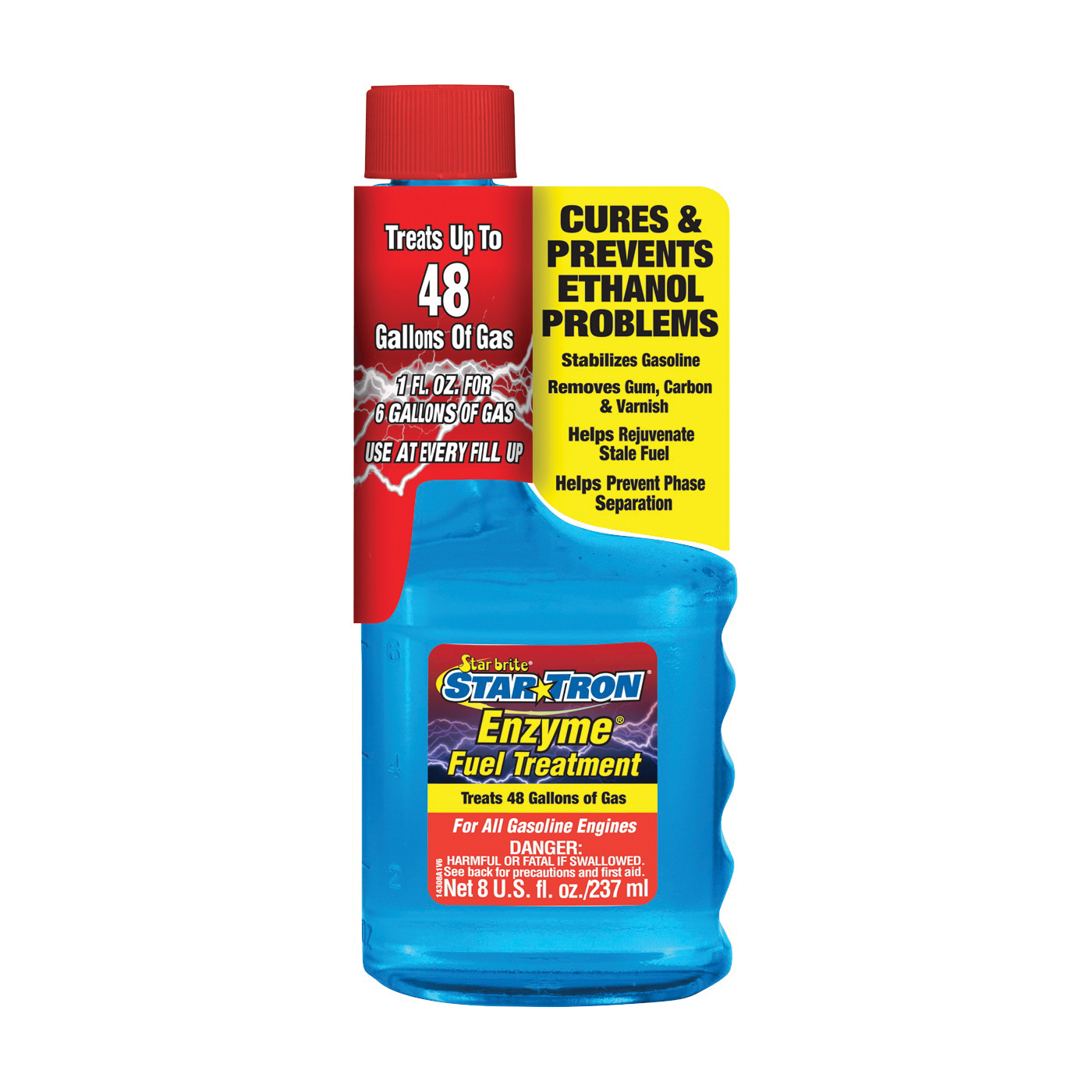 Picture of Star brite Star Tron 14308 Enzyme Fuel Treatment Clear, 8 oz Package, Bottle