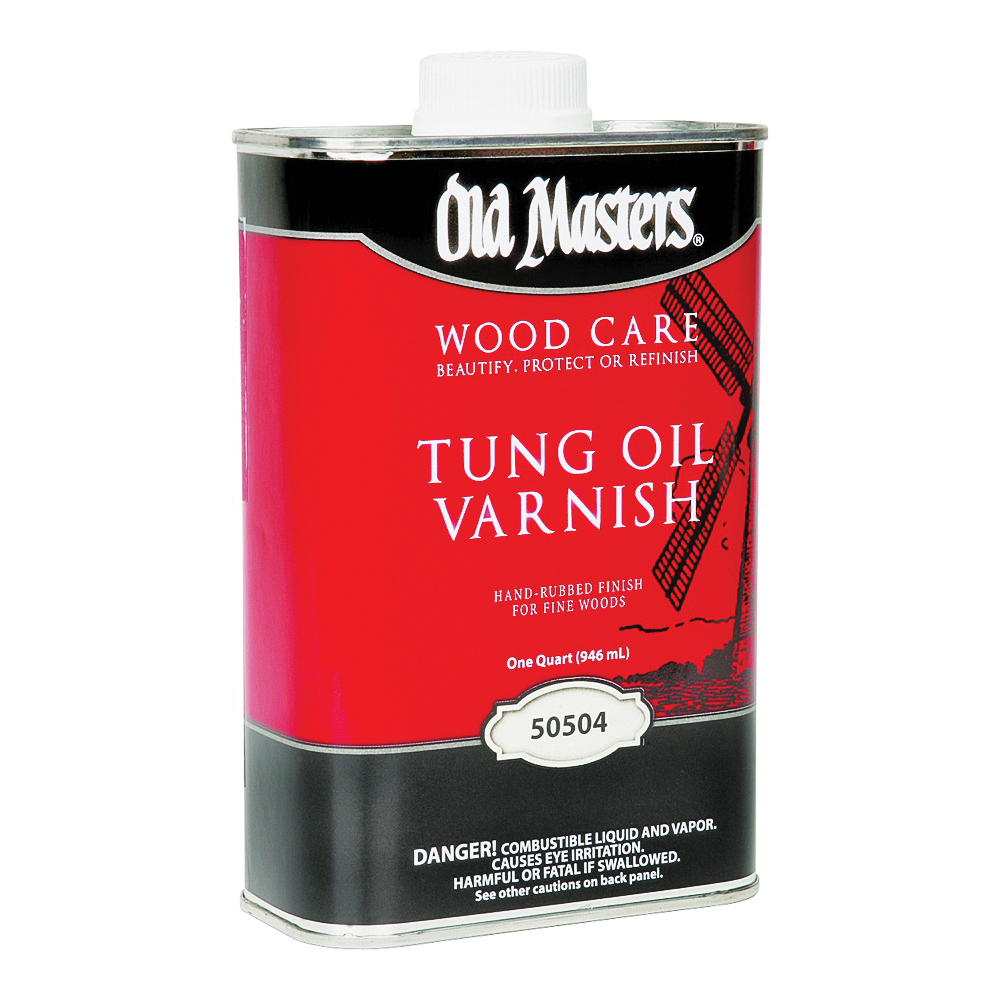 Picture of Old Masters 50504 Tung Oil Varnish, Liquid, 1 qt, Can