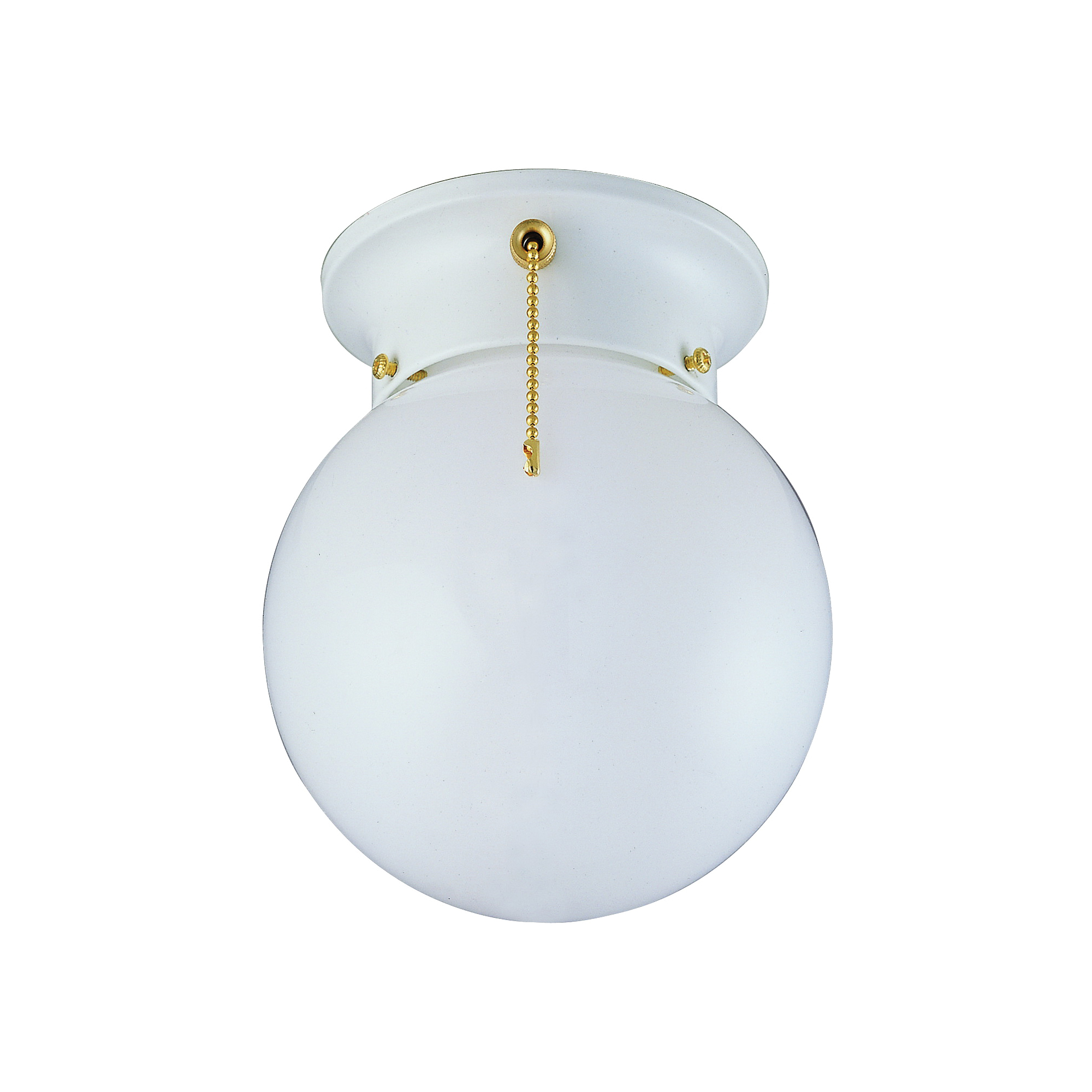 Picture of Boston Harbor F3WH01-33753L Ceiling Light Fixture, 60 W, 1-Lamp, CFL Lamp, White Fixture