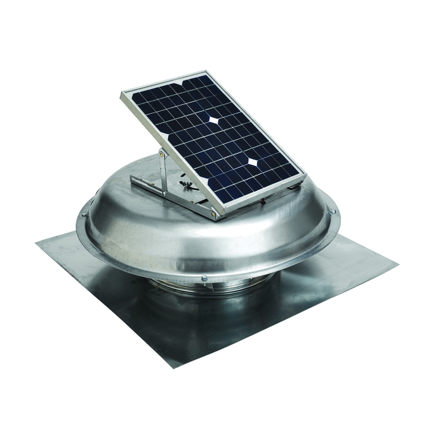 Picture of Master Flow PRSOLAR Roof Ventilator, 800 sq-ft Net Free Ventilating Area, 500 cfm Air, Steel