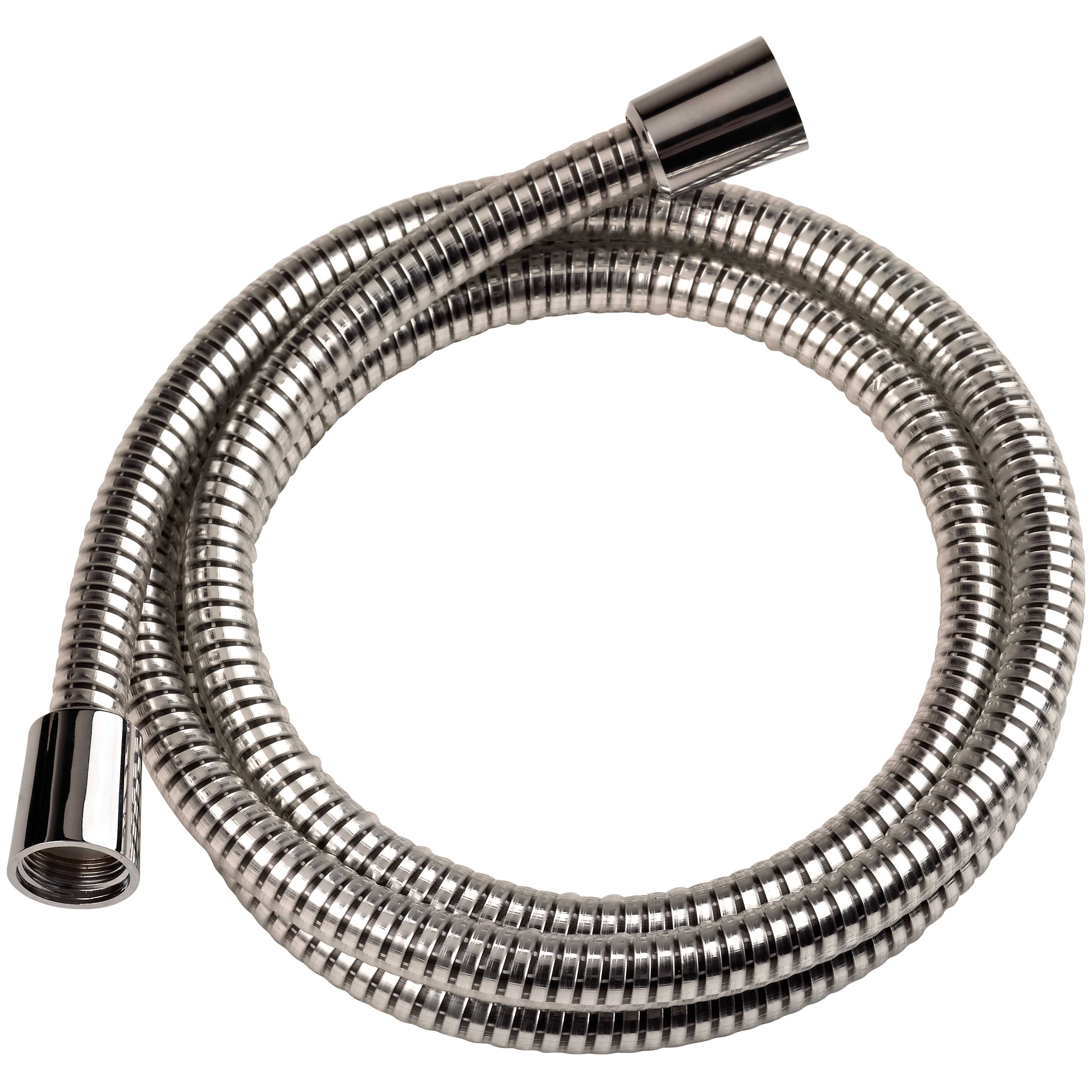 Picture of Boston Harbor B1101CP Shower Hose with Hex Nut, 72 in L Hose, Mylar, Chrome
