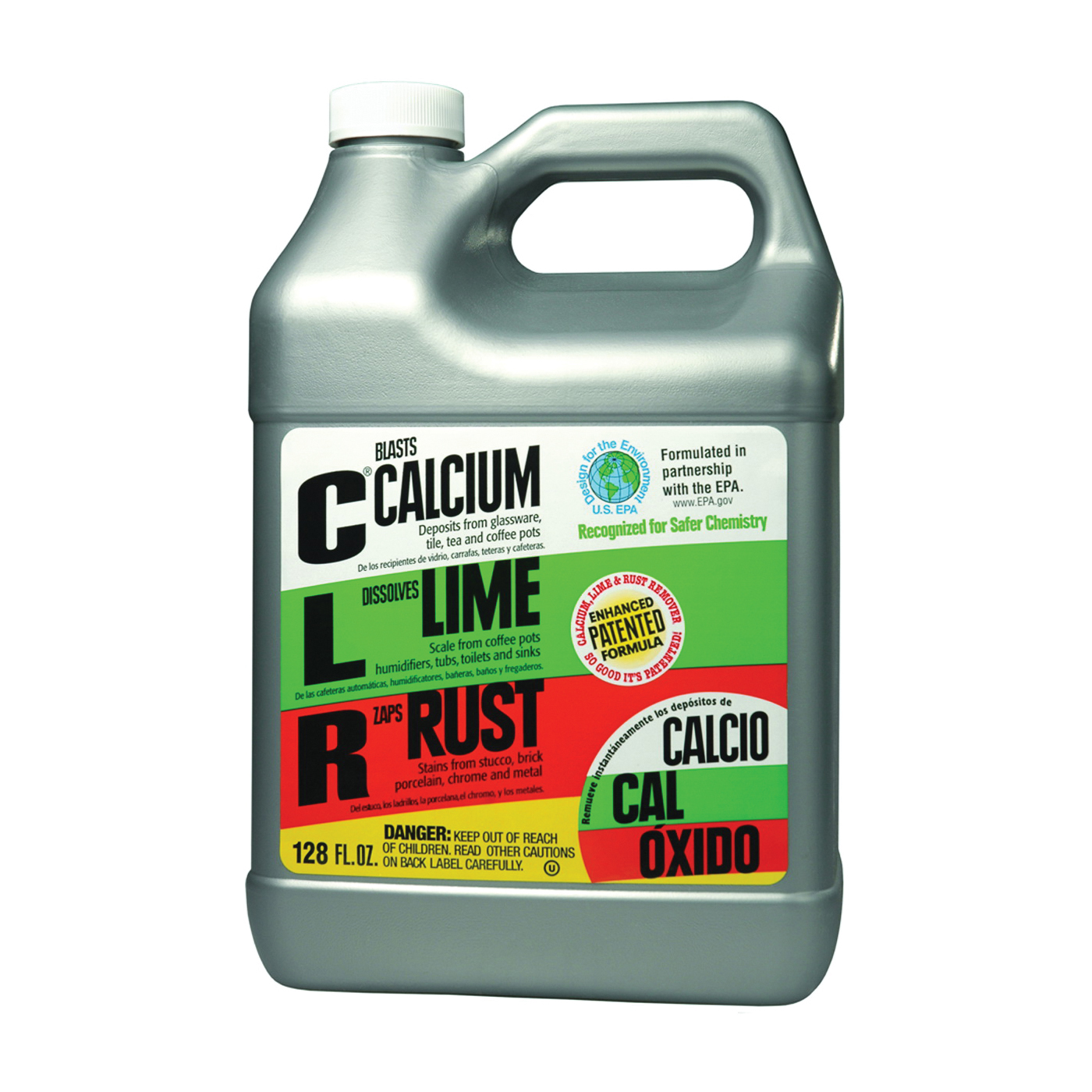 Picture of CLR CL-4 Calcium, 1 gal Package, Bottle, Liquid, Slightly Acidic, Lime Green