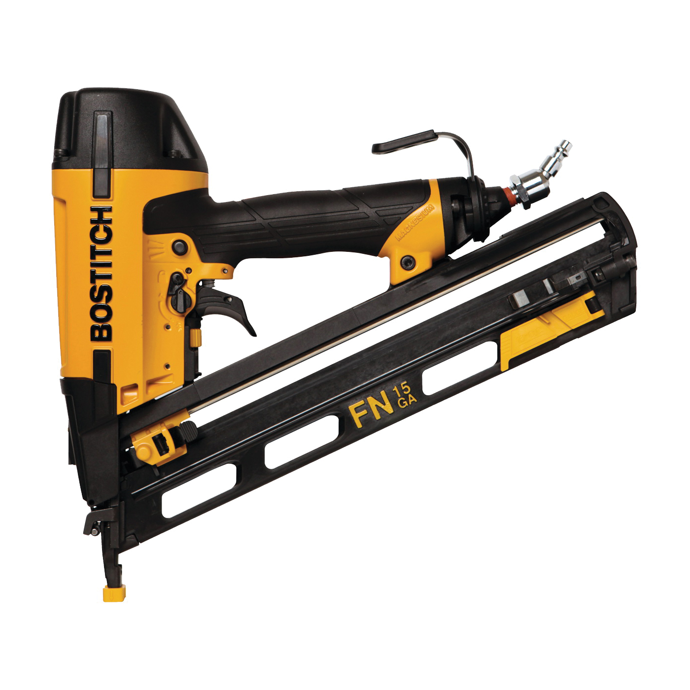 Picture of Bostitch N62FNK-2 Finish Nailer Kit, 130 Magazine, 34 deg Collation, Glue Collation, 1-1/4 to 2-1/2 in Fastener