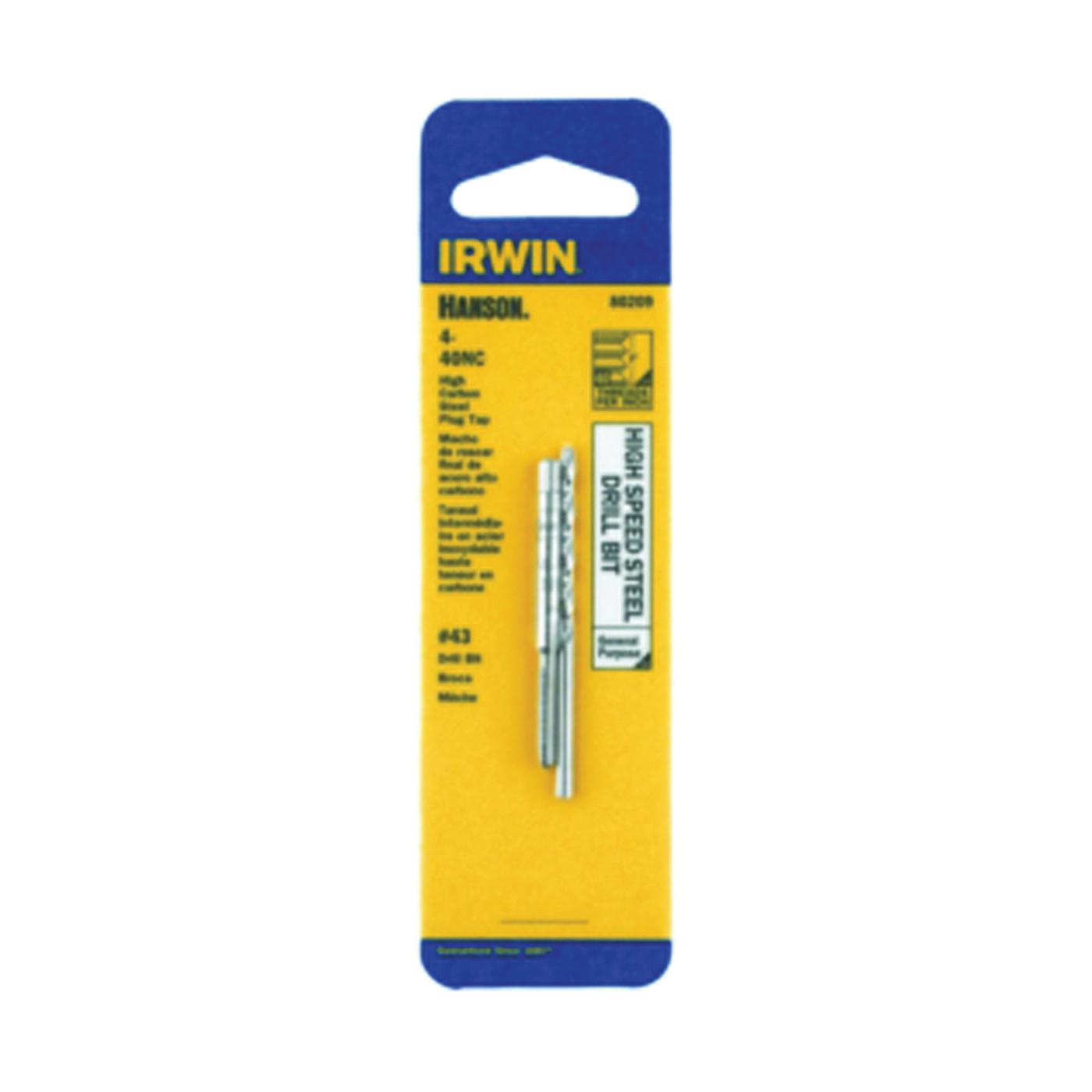 Picture of IRWIN 8032 Machine Screw Tap, #12-24 NC Thread, Plug Tap Thread, 4 -Flute, HCS