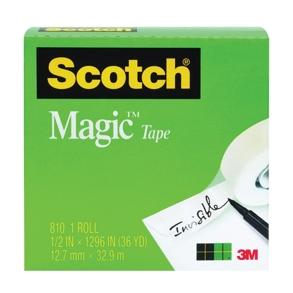 Picture of Scotch Magic 810 Office Tape, 1296 in L, 3/4 in W, Acetate Backing