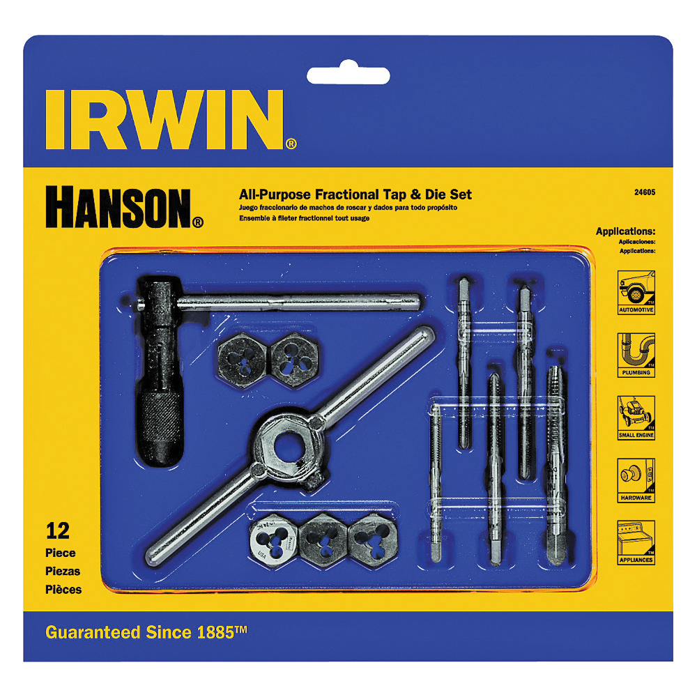 Picture of IRWIN POWER-GRIP 24605 Tap and Die Set, 12 -Piece, HCS