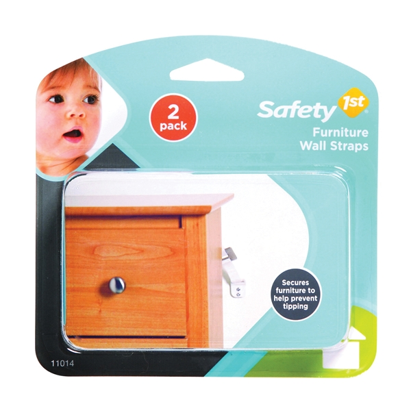 Picture of Safety 1st 11014 Furniture Wall Strap, Canvas, White