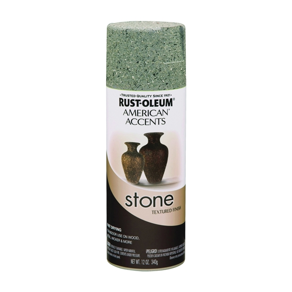 Picture of RUST-OLEUM AMERICAN ACCENTS 7992830 Stone Spray Paint Stone Gray, Solvent-Like, Stone Gray, 12 oz, Aerosol Can