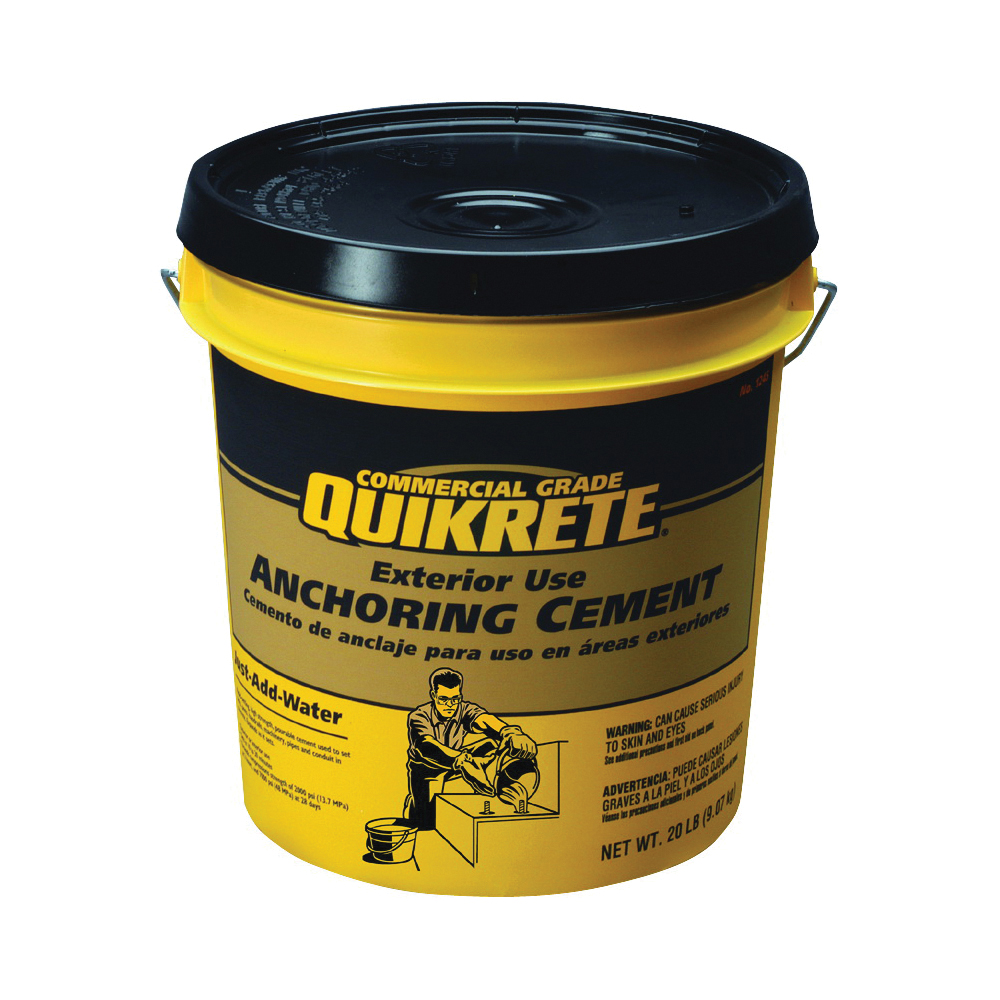 Picture of Quikrete 1245-20 Anchoring Cement, Granular, Brown/Gray, 20 lb Package, Pail
