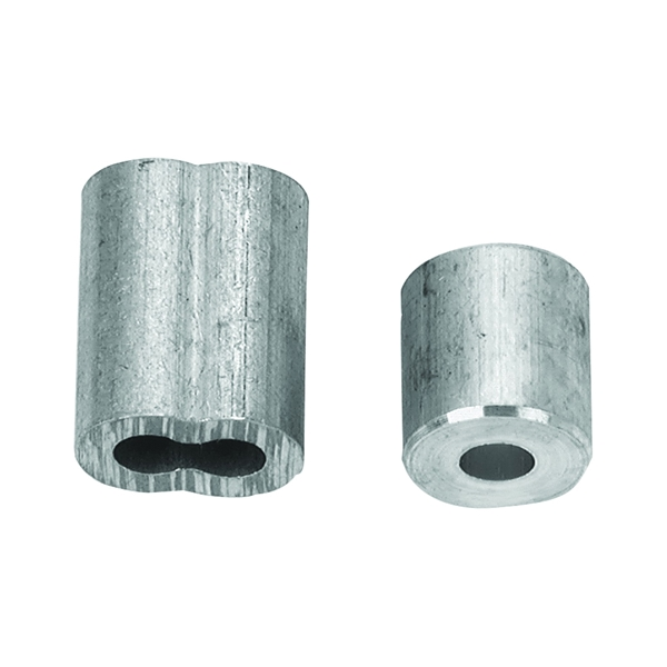 Picture of Campbell B7675424 Cable Ferrule and Stop Set, 1/8 in Dia Cable, Aluminum