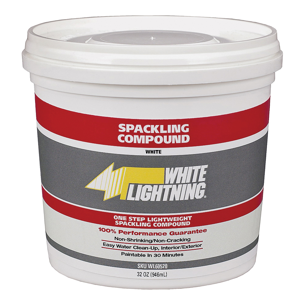 Picture of WHITE LIGHTNING WL60512 Spackling Paste White, White, 0.5 pt, Can