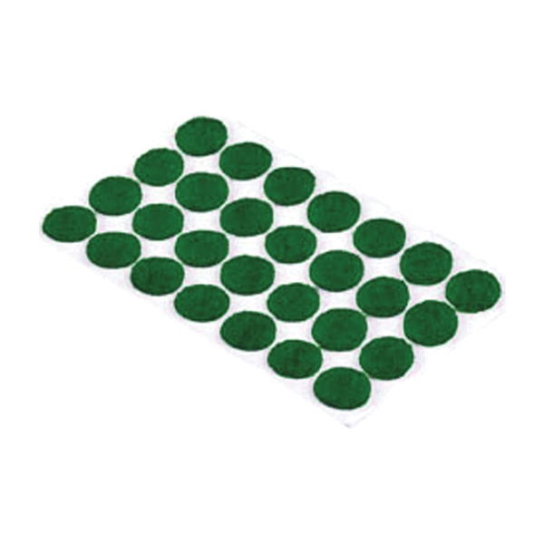 Picture of Shepherd Hardware 9421 Furniture Pad, Felt Cloth, Green, 3/8 in Dia, Round