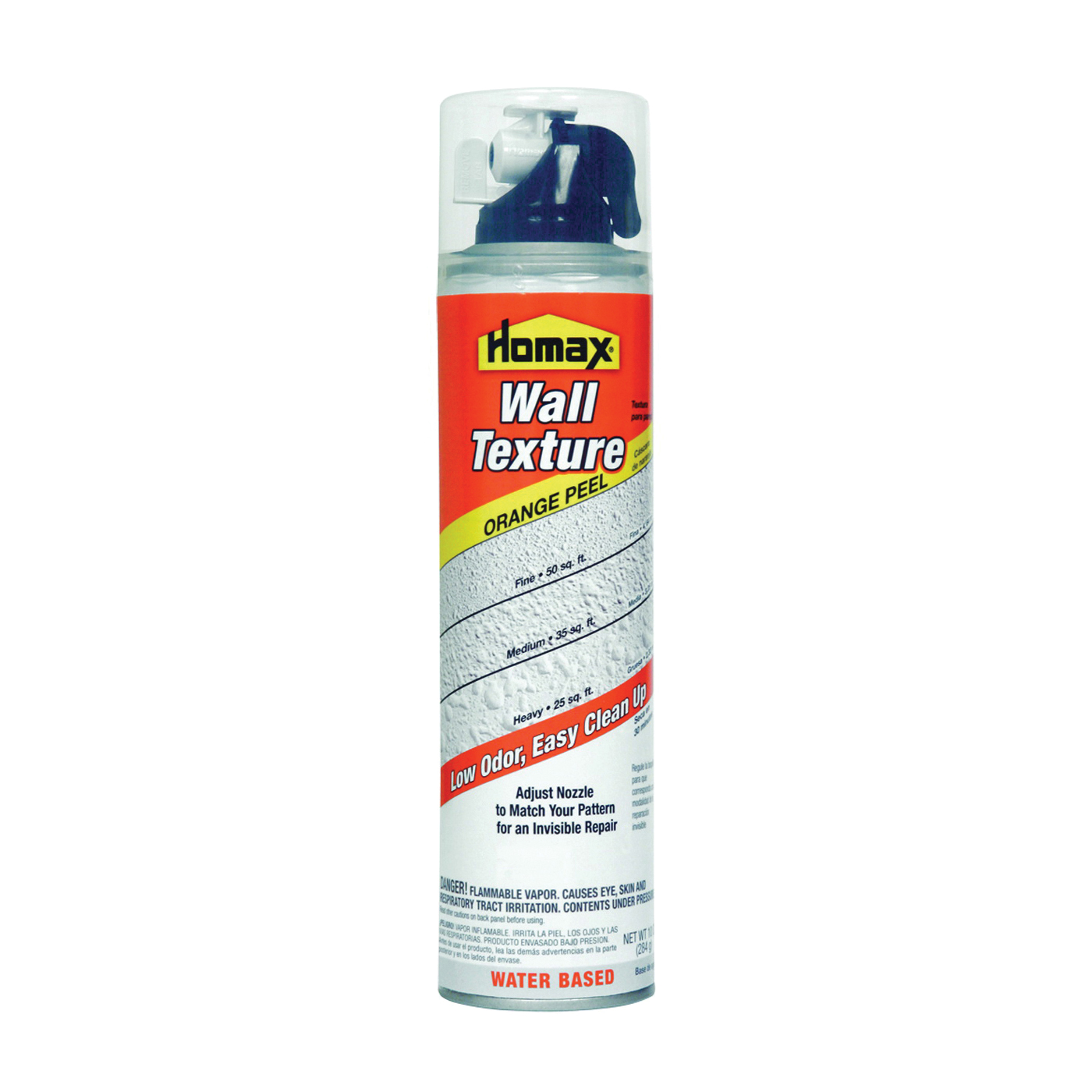 Picture of Homax 4091-06 Wall Texture, Liquid, Ether, Gray/White, 10 oz Package, Aerosol Can
