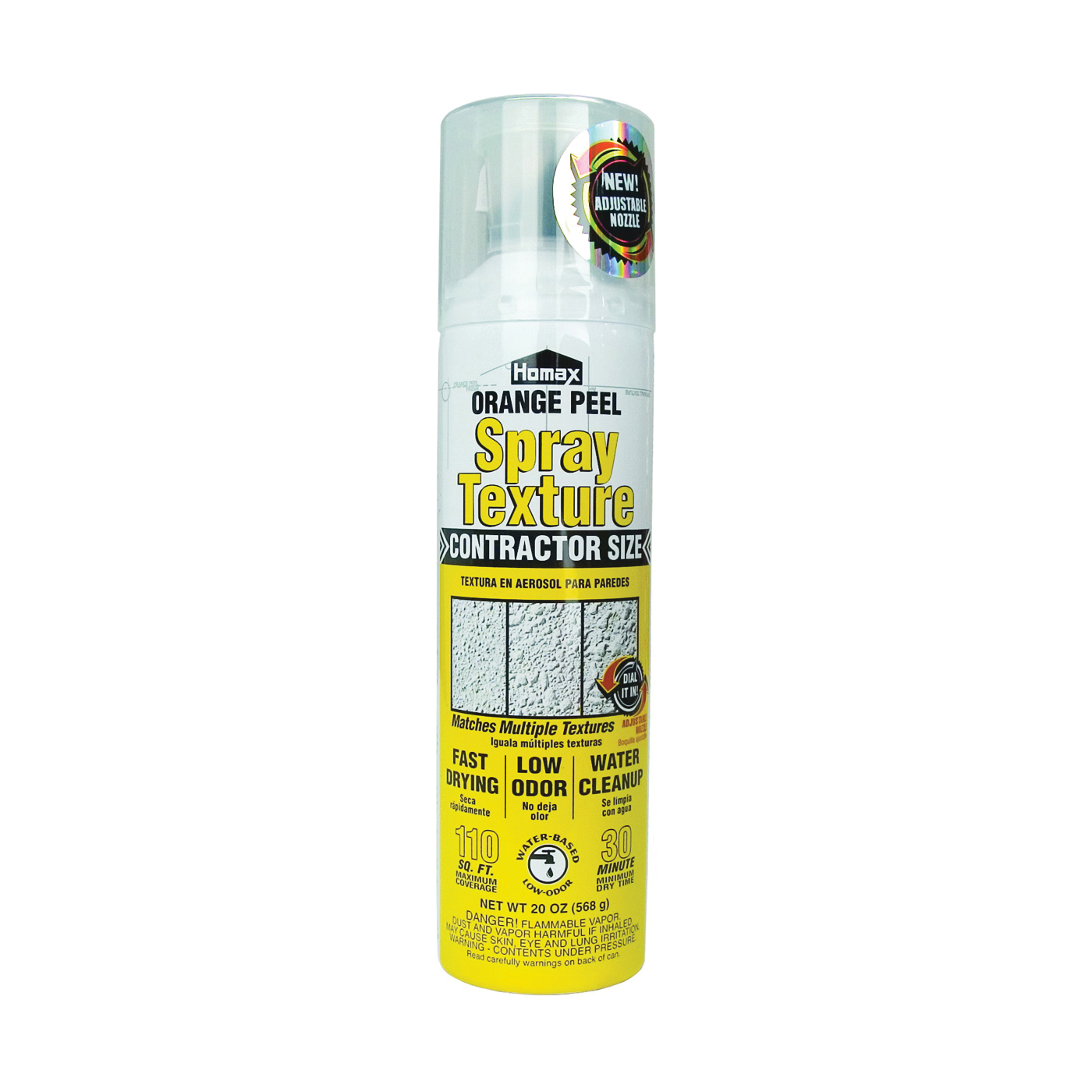 Picture of Homax 4092-06 Wall Texture, Liquid, Ether, Gray/White, 20 oz Package, Aerosol Can
