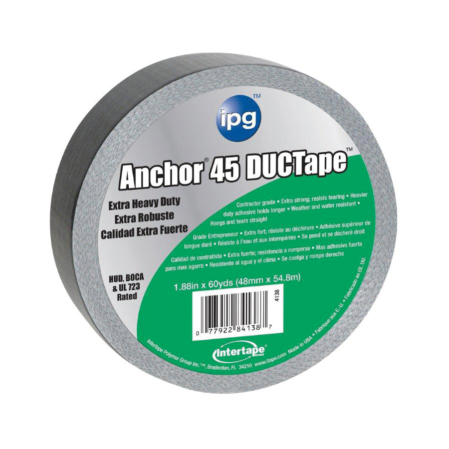 Picture of IPG 4138 Duct Tape, 60 yd L, 1.88 in W, Polyethylene-Coated Cloth Backing, Silver