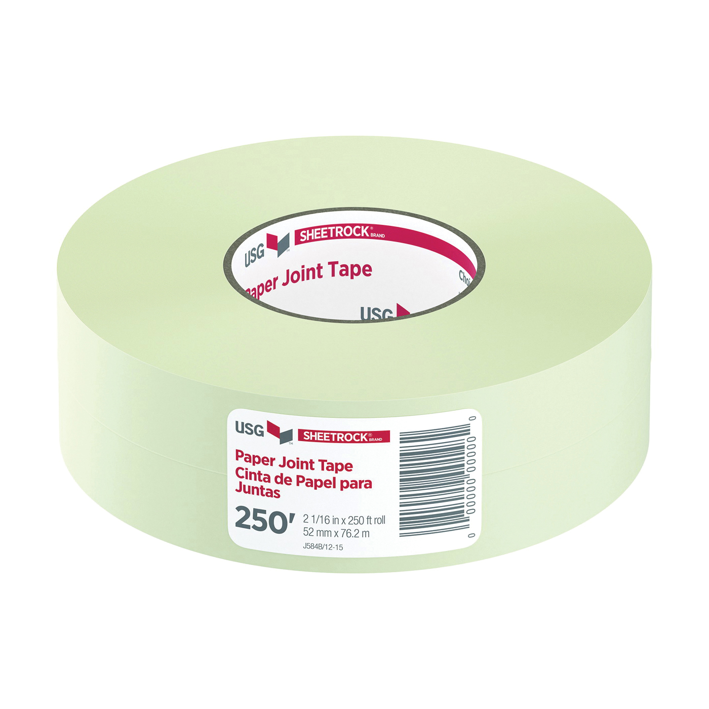 Picture of USG 382175020 Joint Tape, 250 ft L, 2-1/16 in W, 0.0085 mm Thick, Solid, White