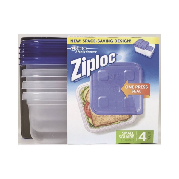 Picture of Ziploc 70935 Food Container, 24 oz Capacity, Plastic, Clear, 6-1/8 in L, 6-1/8 in W, 2-1/4 in H