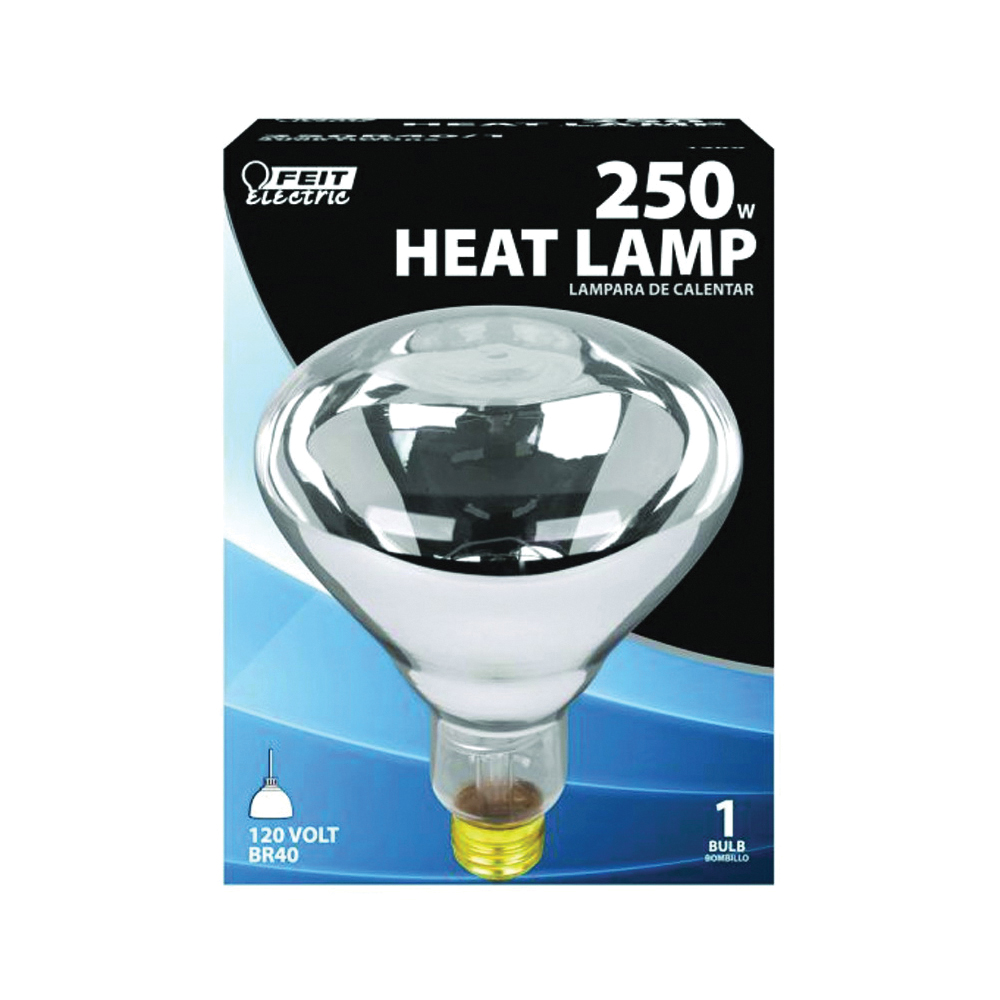 Picture of Feit Electric 250R40/1 Incandescent Lamp, 250 W, R40 Lamp, Medium E26 Lamp Base, 2200 Lumens, Clear Lamp