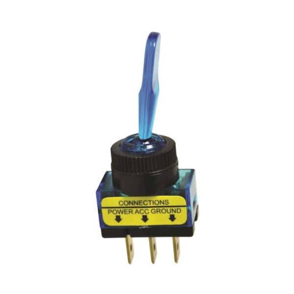 Picture of CALTERM 40240 Toggle Switch, 20 A, 12 VDC, Screw Terminal, Blue