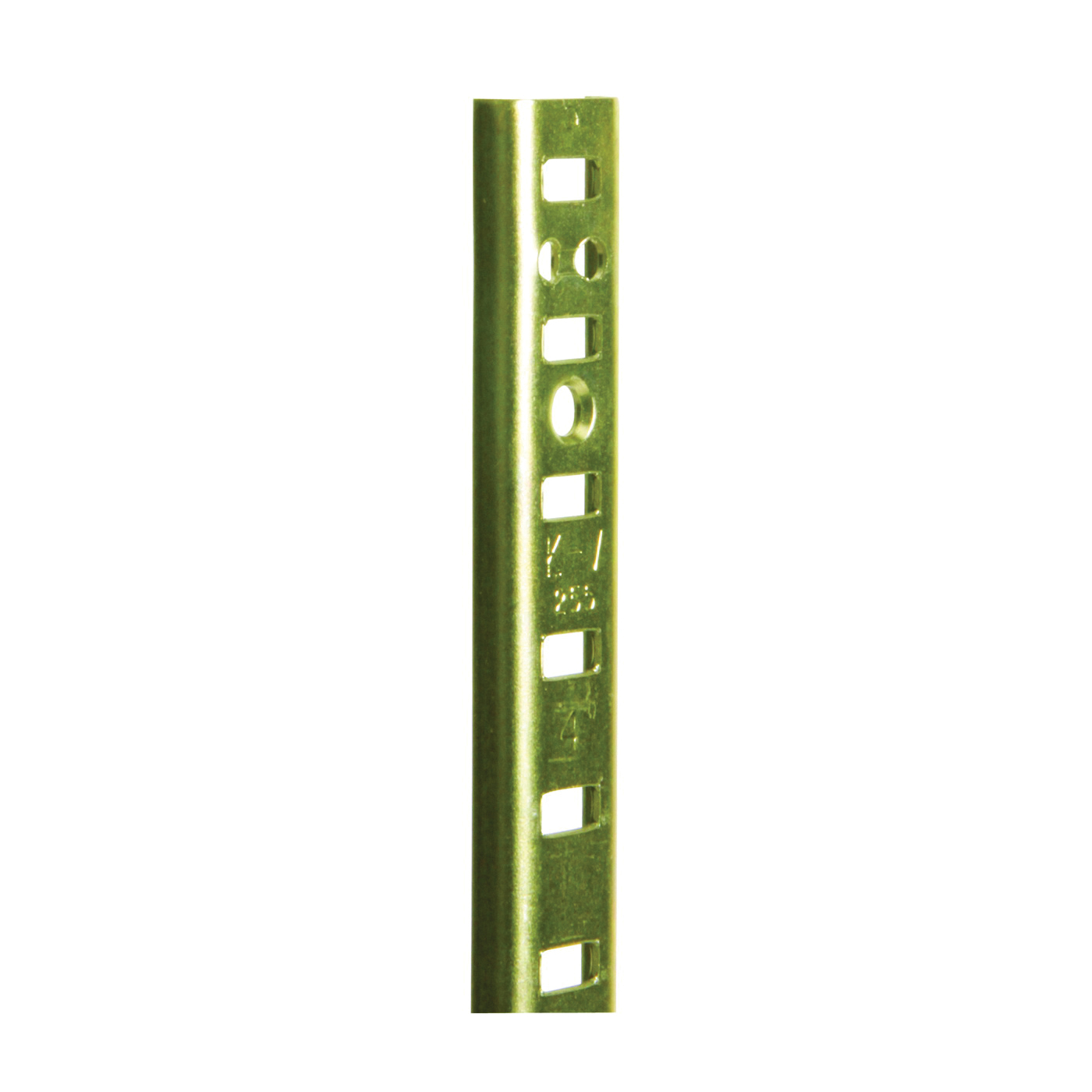 Picture of Knape & Vogt 255 Series PK255 BR 36 Shelf Standard, 500 lb, 23 ga Thick Material, 5/8 in W, 36 in H, Steel, Brass