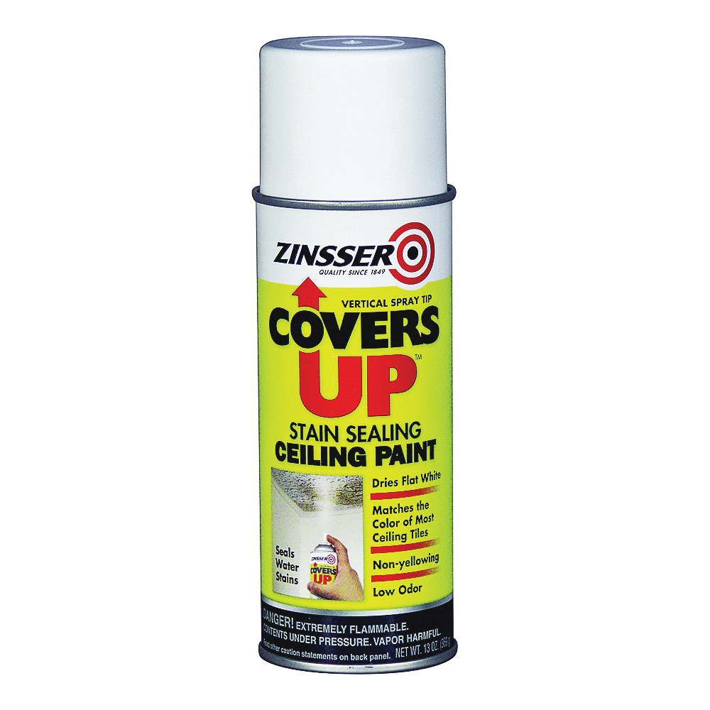 Picture of ZINSSER 03688 Ceiling Paint and Primer, White, Flat, 13 oz