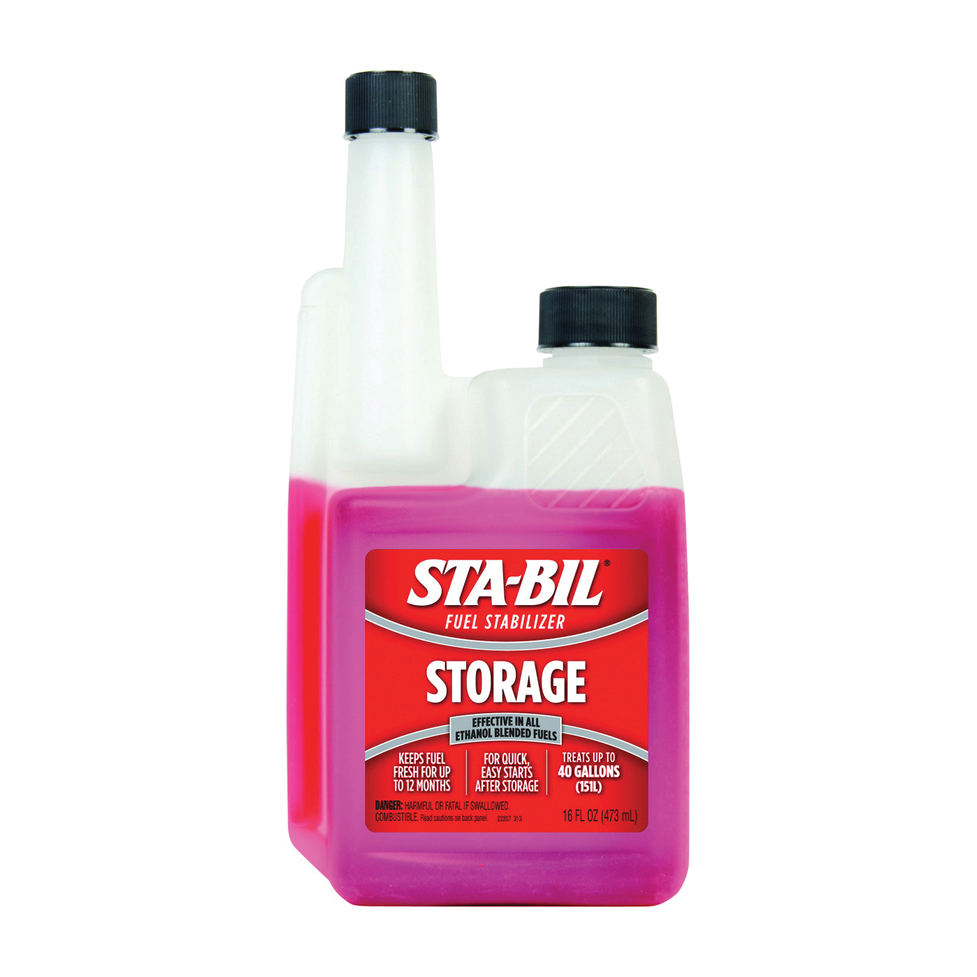 Picture of STA-BIL 22207 Fuel Stabilizer Red, 16 oz Package, Bottle