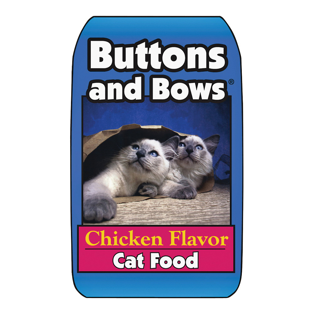 Picture of Buttons and Bows 10224 Cat Food, Chicken Flavor, 20 lb Package, Bag