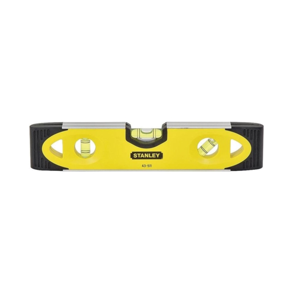 Picture of STANLEY 43-511 Torpedo Level, 9 in L, 3 -Vial, 2 -Hang Hole, Magnetic, Aluminum