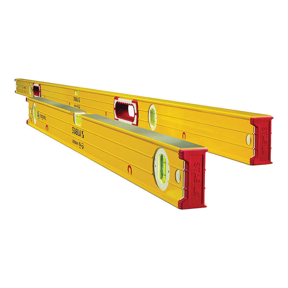 Picture of Stabila 38532 Beam Level Set, Magnetic, Aluminum, Yellow
