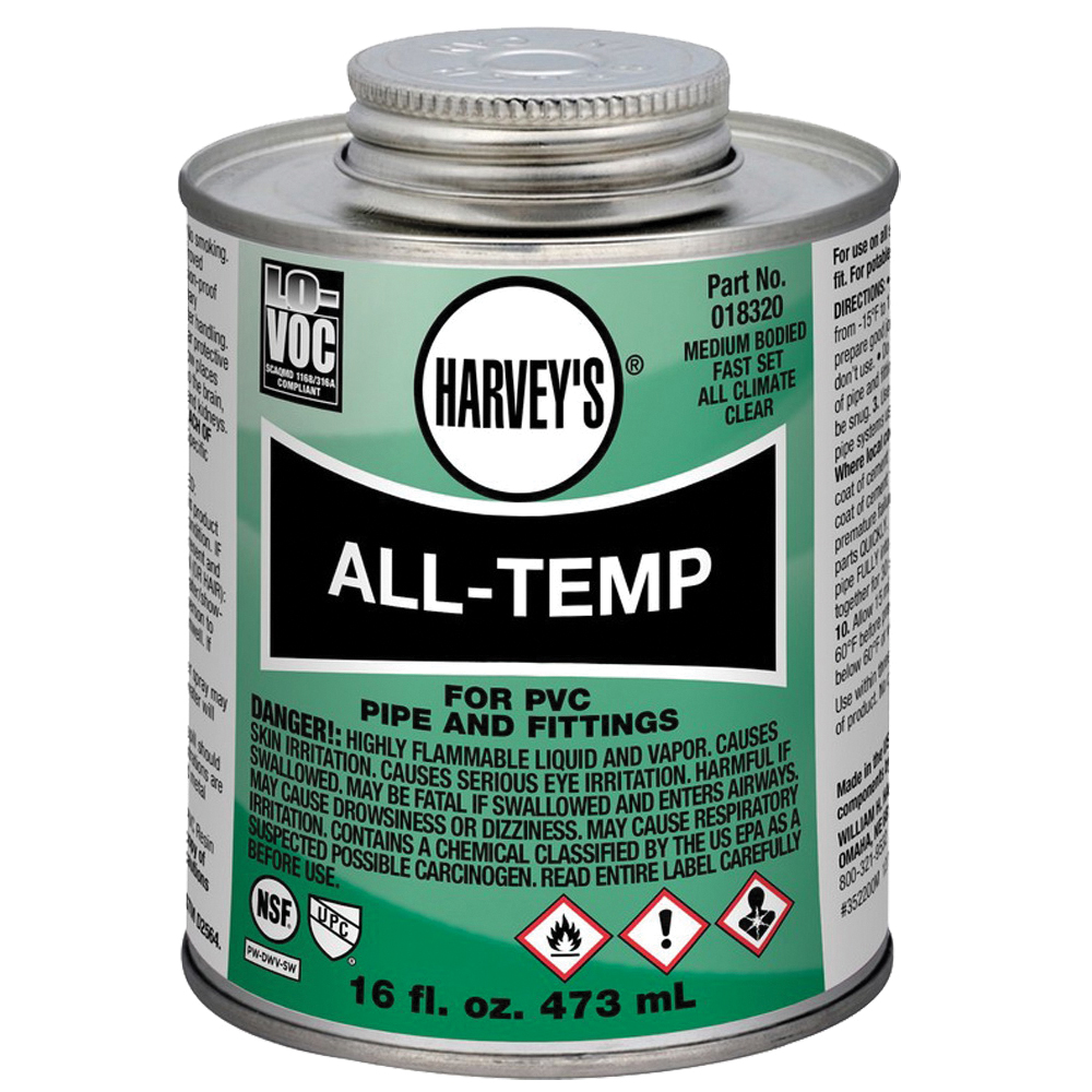 Picture of HARVEY 018320-12 Solvent Cement, 16 oz, Can, Liquid, Gray