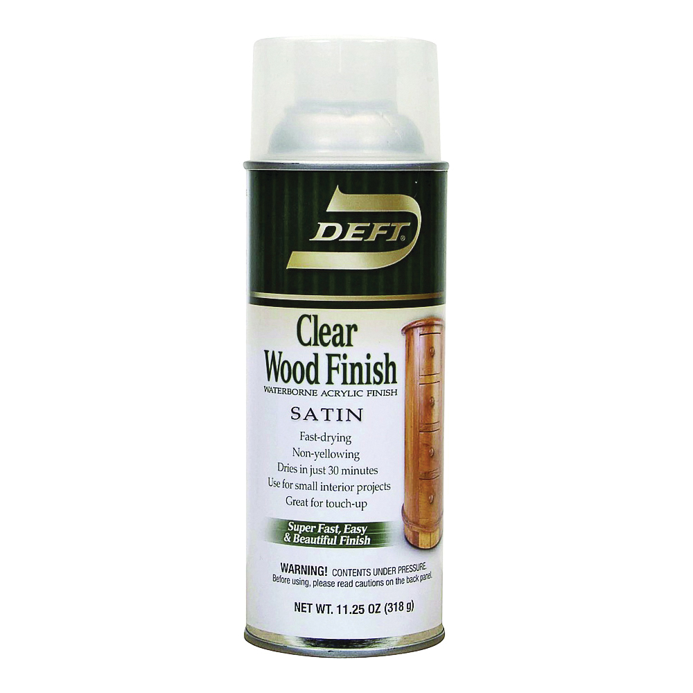Picture of DEFT 109-13 Acrylic Paint, Liquid, Clear, 11.25 oz, Aerosol Can