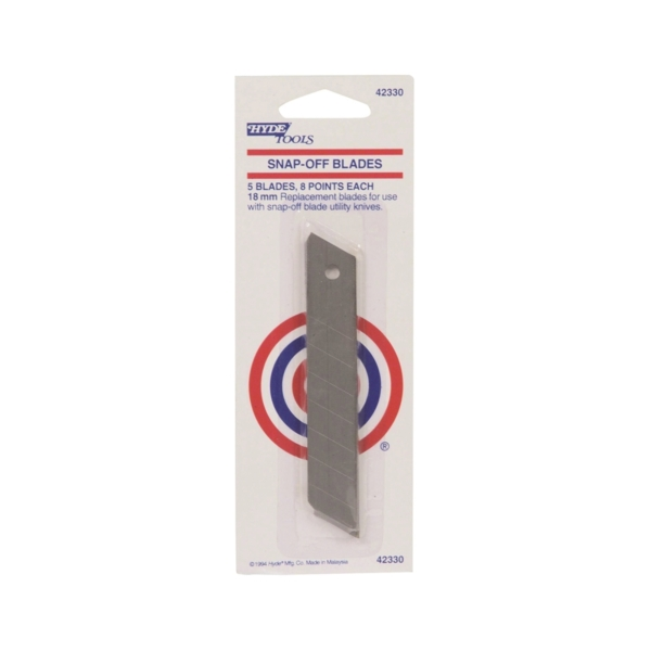 Picture of HYDE 42330 Replacement Knife Blade, 18 mm, 8 -Point, 5/PK, Box