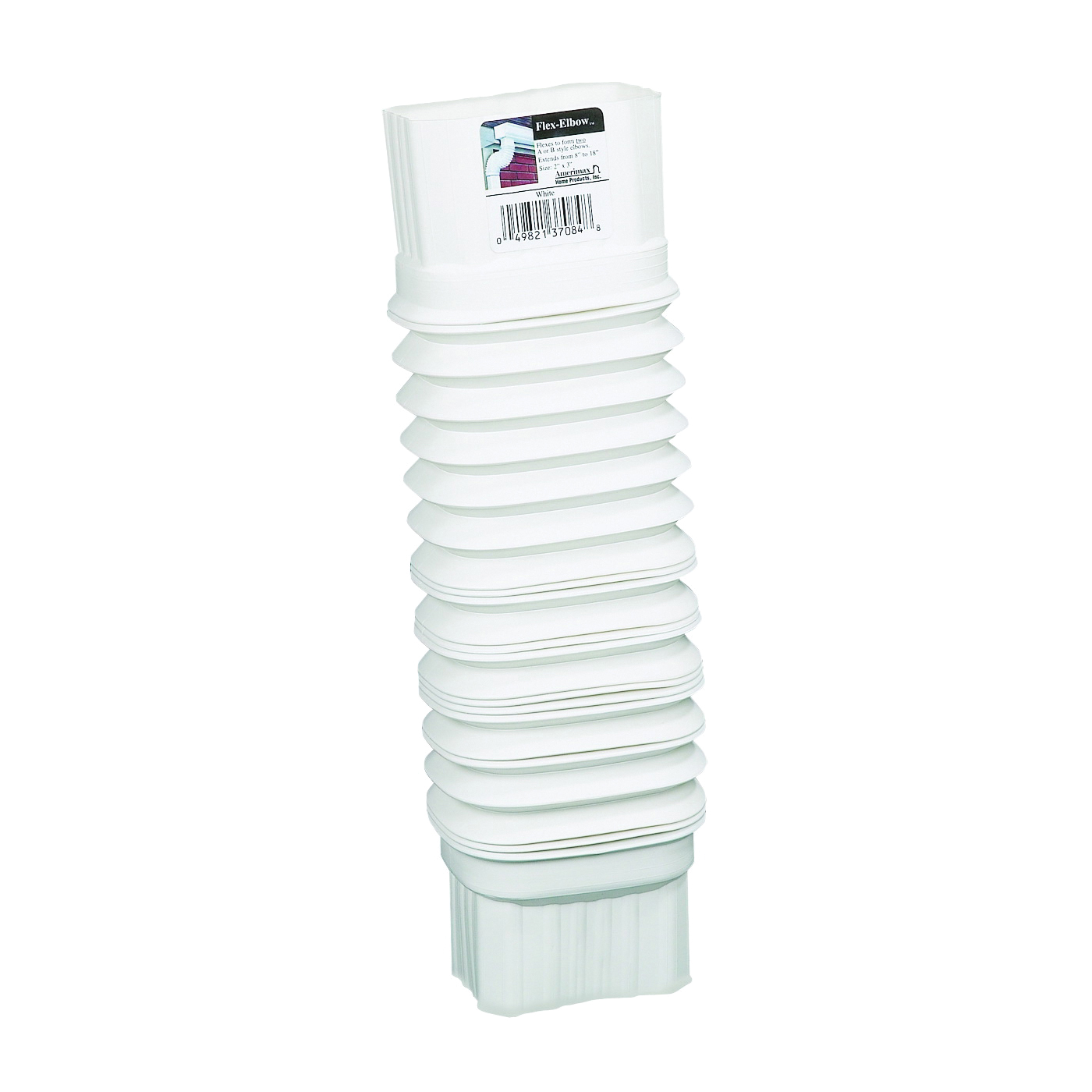 Picture of Amerimax Flex-Elbow 37084 Gutter Elbow, 4, 5 in Gutter, Aluminum, White