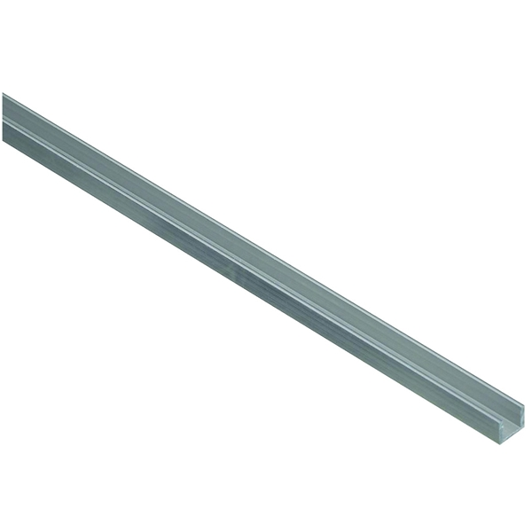 Picture of Stanley Hardware 4208BC Series 342279 Channel, 48 in L, 1/16 in Thick, Aluminum, Mill