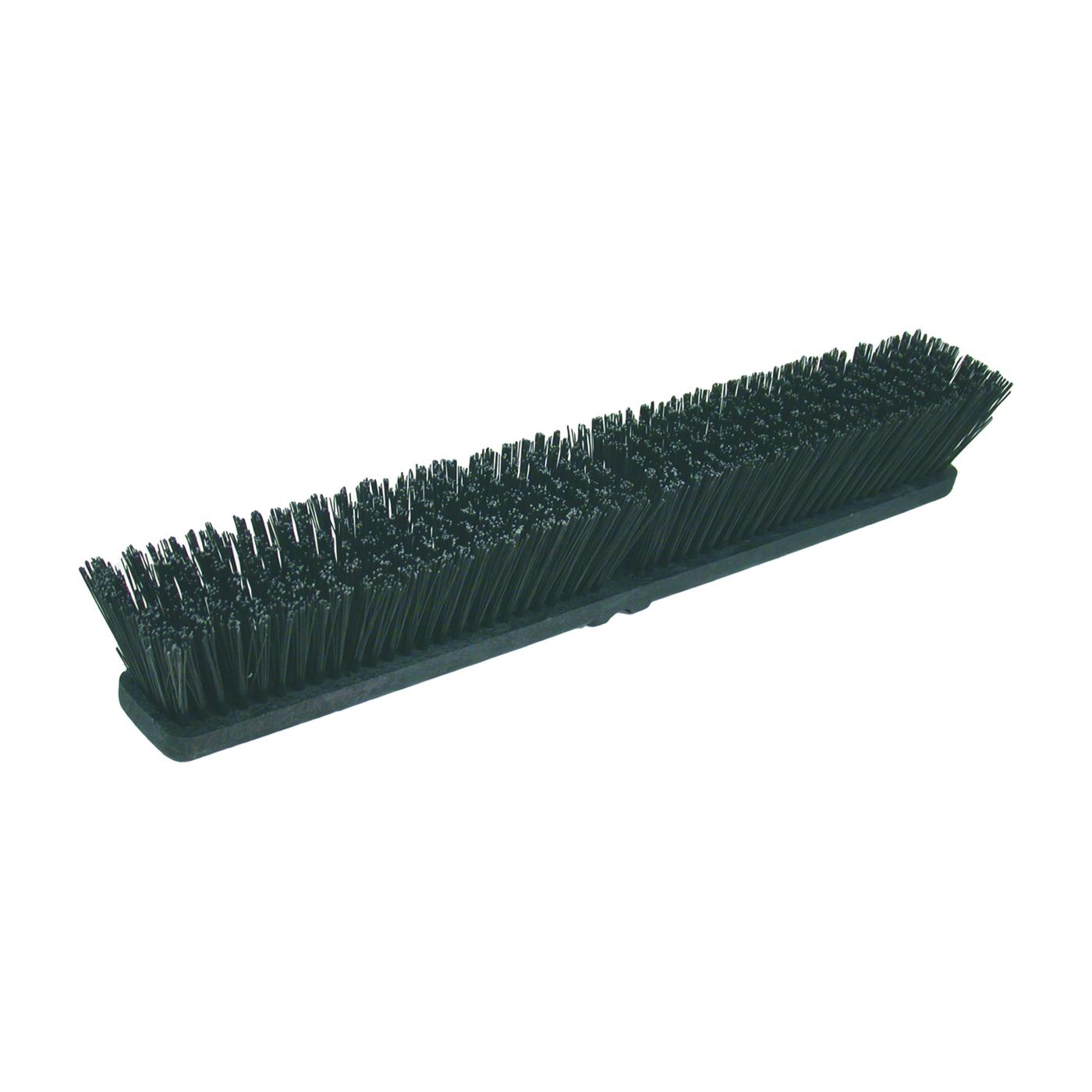Picture of BIRDWELL 2027-12 Broom Head Threaded, Threaded, 3 in L Trim, Polystyrene Bristle, Black