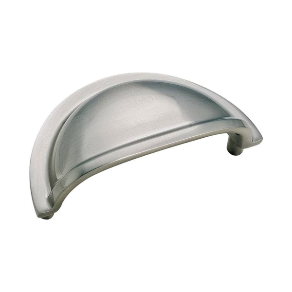 Picture of Amerock BP4235G9 Cabinet Pull, 3-1/2 in L Handle, 1-1/4 in H Handle, 1-1/16 in Projection, Brass, Sterling Nickel