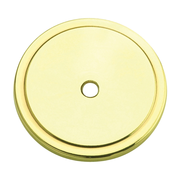 Picture of Amerock Allison Value BP7603 Cabinet Knob Backplate, Steel, Polished Brass