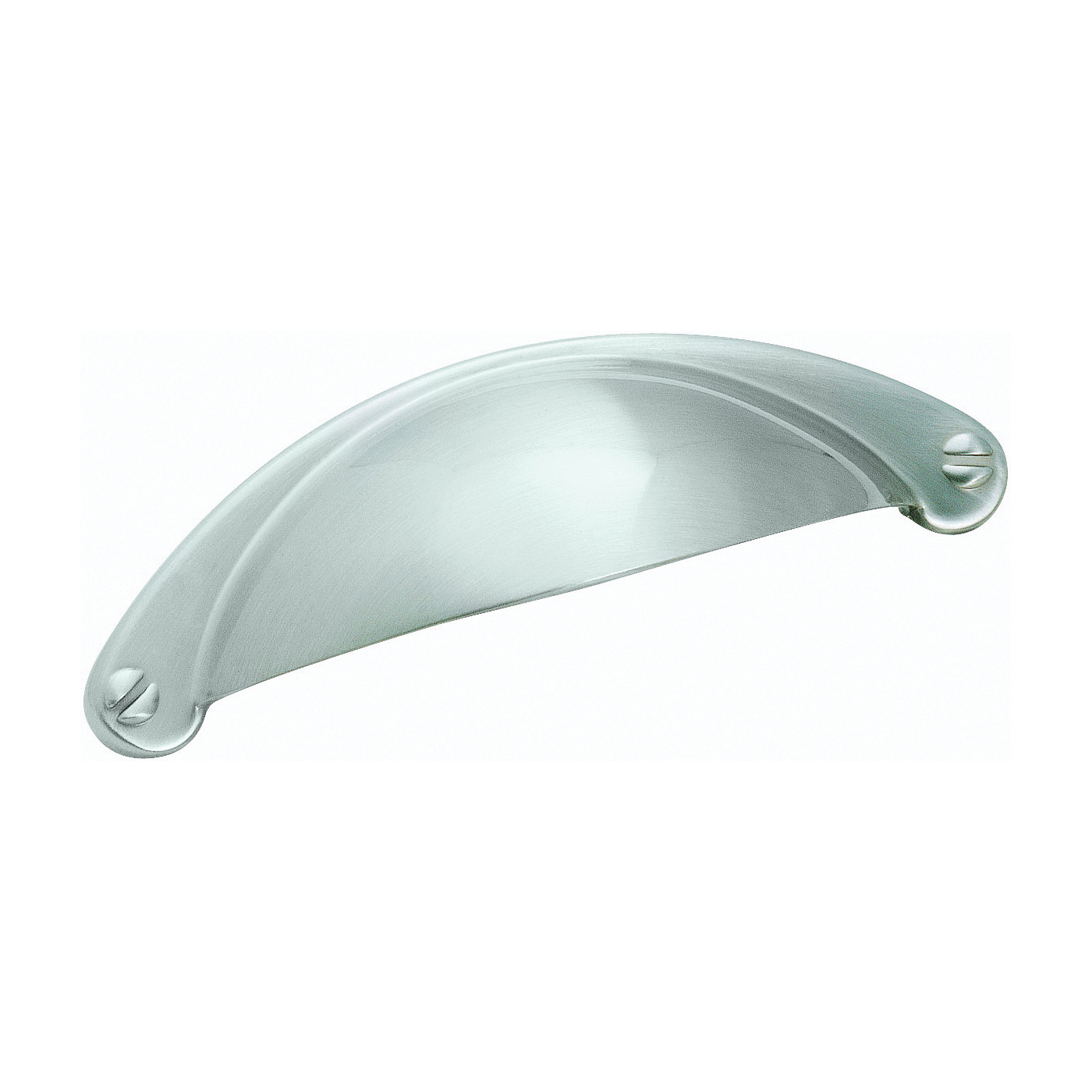 Picture of Amerock BP9365G10 Cabinet Pull, 4-1/16 in L Handle, 1 in H Handle, 1 in Projection, Zinc, Satin Nickel