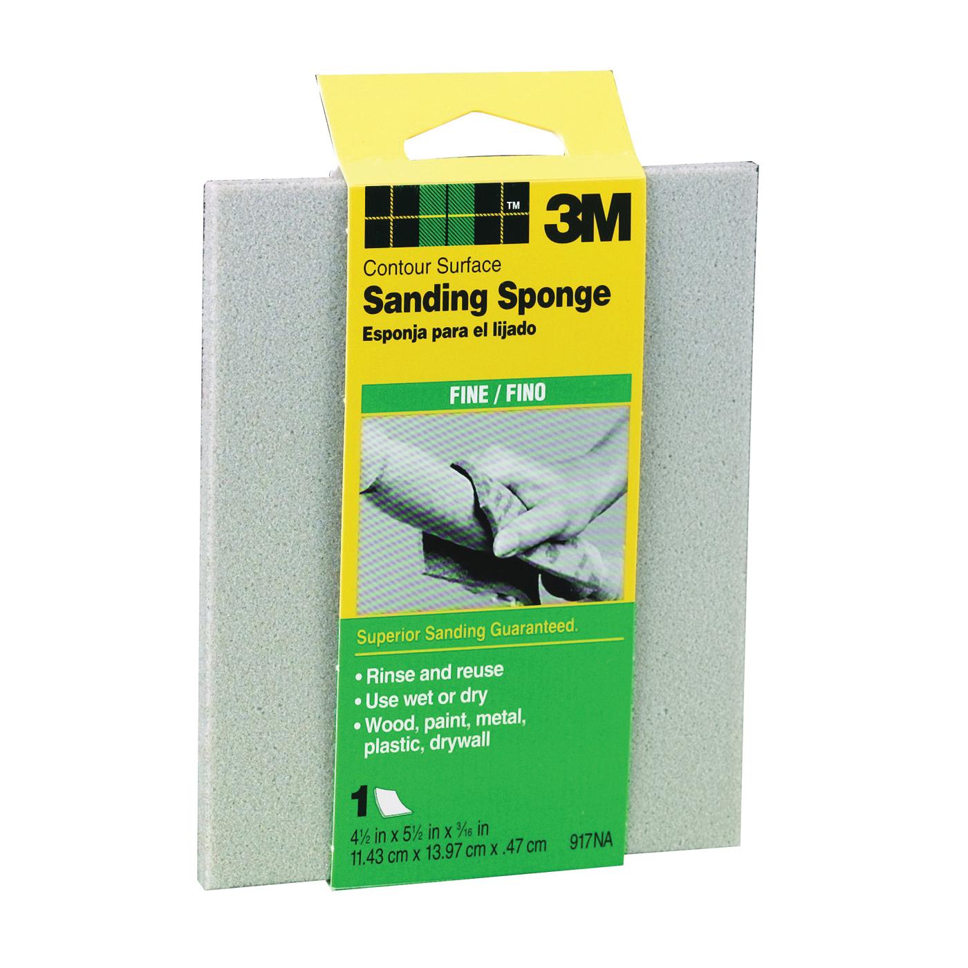 Picture of 3M 917 Sanding Sponge, 5-1/2 in L, 4-1/2 in W, Fine