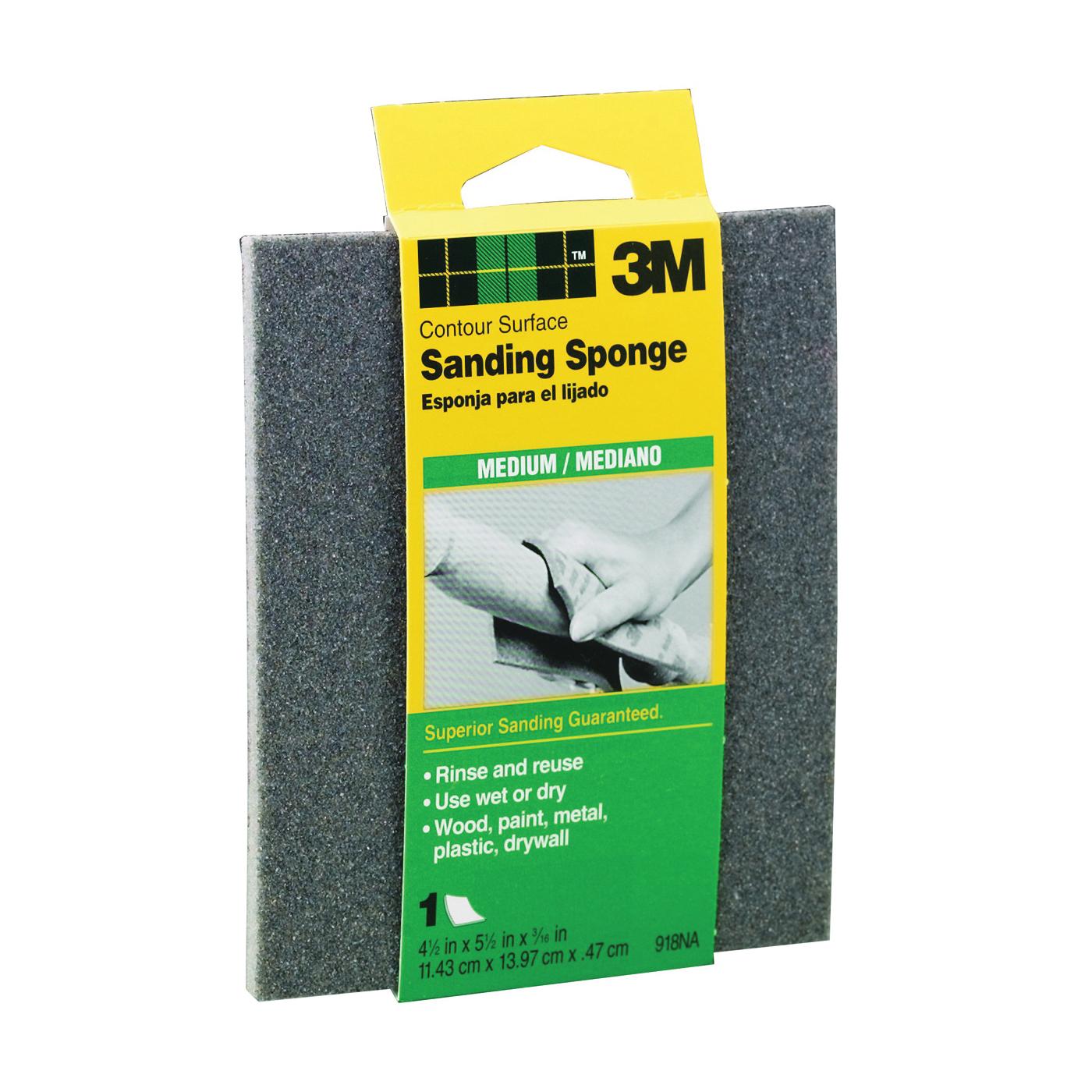 Picture of 3M 918 Sanding Sponge, 5-1/2 in L, 4-1/2 in W, 80 Grit, Medium