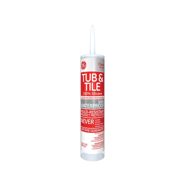 Picture of GE Silicone I GE612 Silicone Rubber Sealant, Clear, 24 hr Curing, -60 to 400 deg F, 10.1 oz Package, Tube