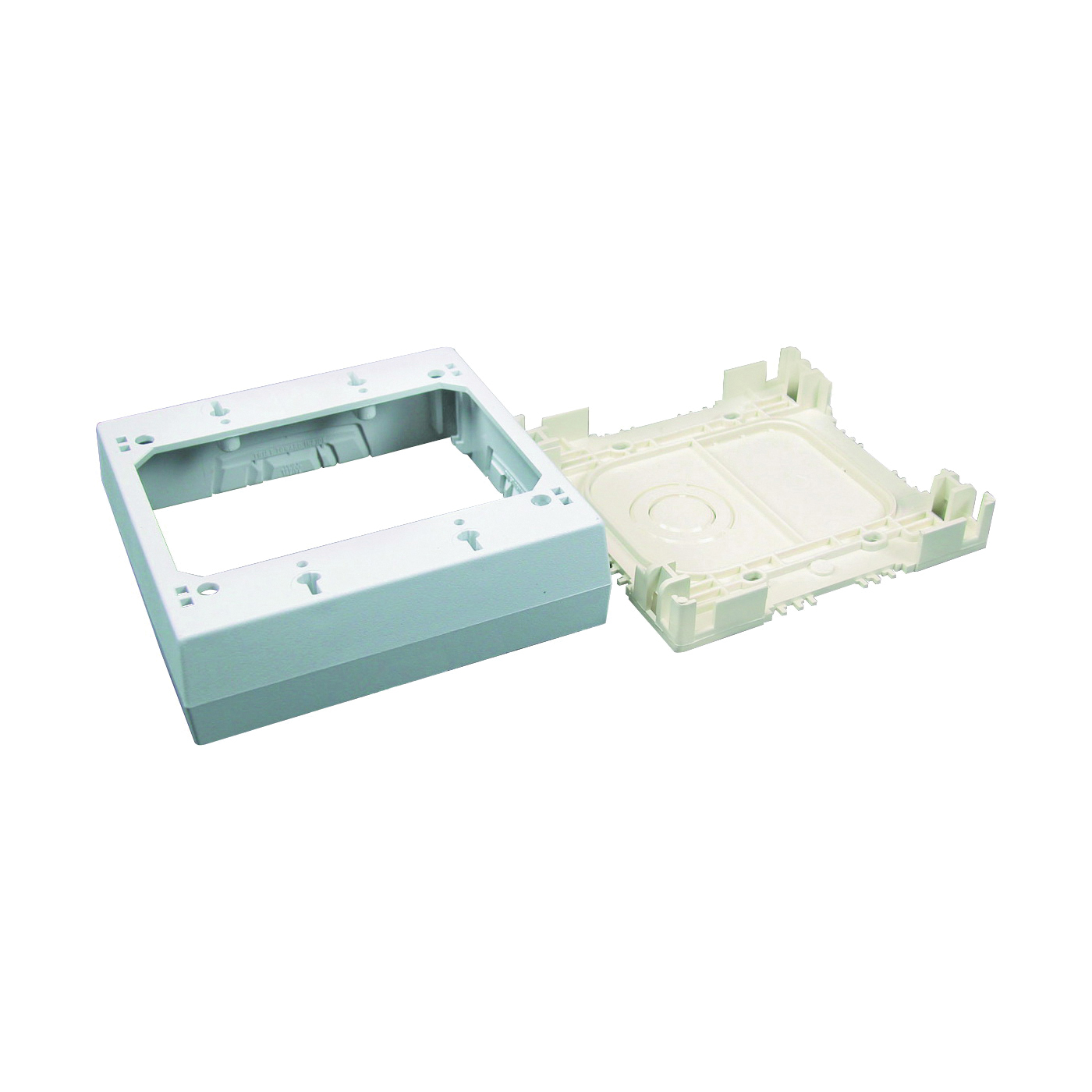 Picture of Legrand Wiremold NMW Series NMW3-2 Outlet Box, 2-Gang, Plastic, White, Wall Mounting