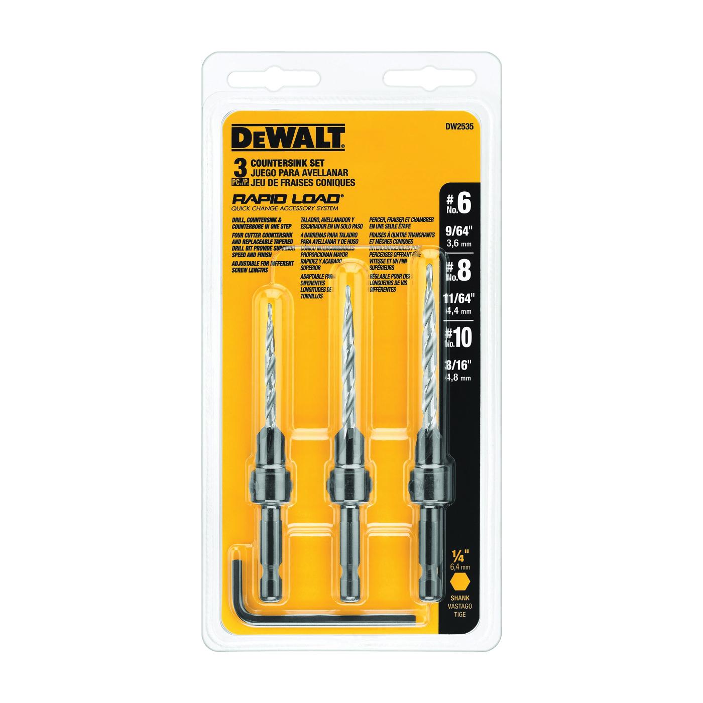 Picture of DeWALT DW2535 Countersink Set, 3 -Piece, HSS