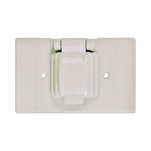 Picture of Eaton Wiring Devices S1961W-SP Cover, 4-9/16 in L, 2-7/8 in W, Thermoplastic, White