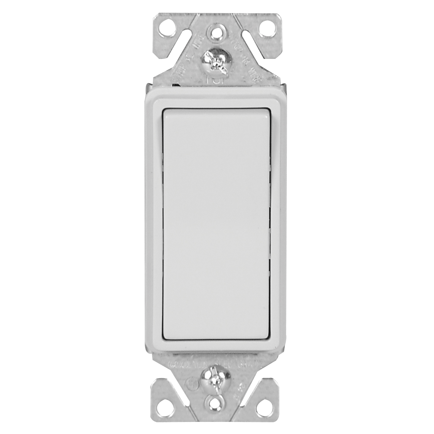 Picture of Eaton Wiring Devices 7500 Series 7513W-BOX Rocker Switch, 15 A, 120/277 V, 3-Way, Lead Wire Terminal, White