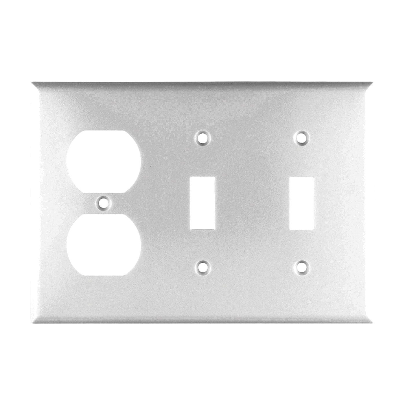 Picture of Eaton Wiring Devices 2158W-BOX Wallplate, 4-1/2 in L, 6-3/8 in W, 3-Gang, Thermoset, White, High-Gloss