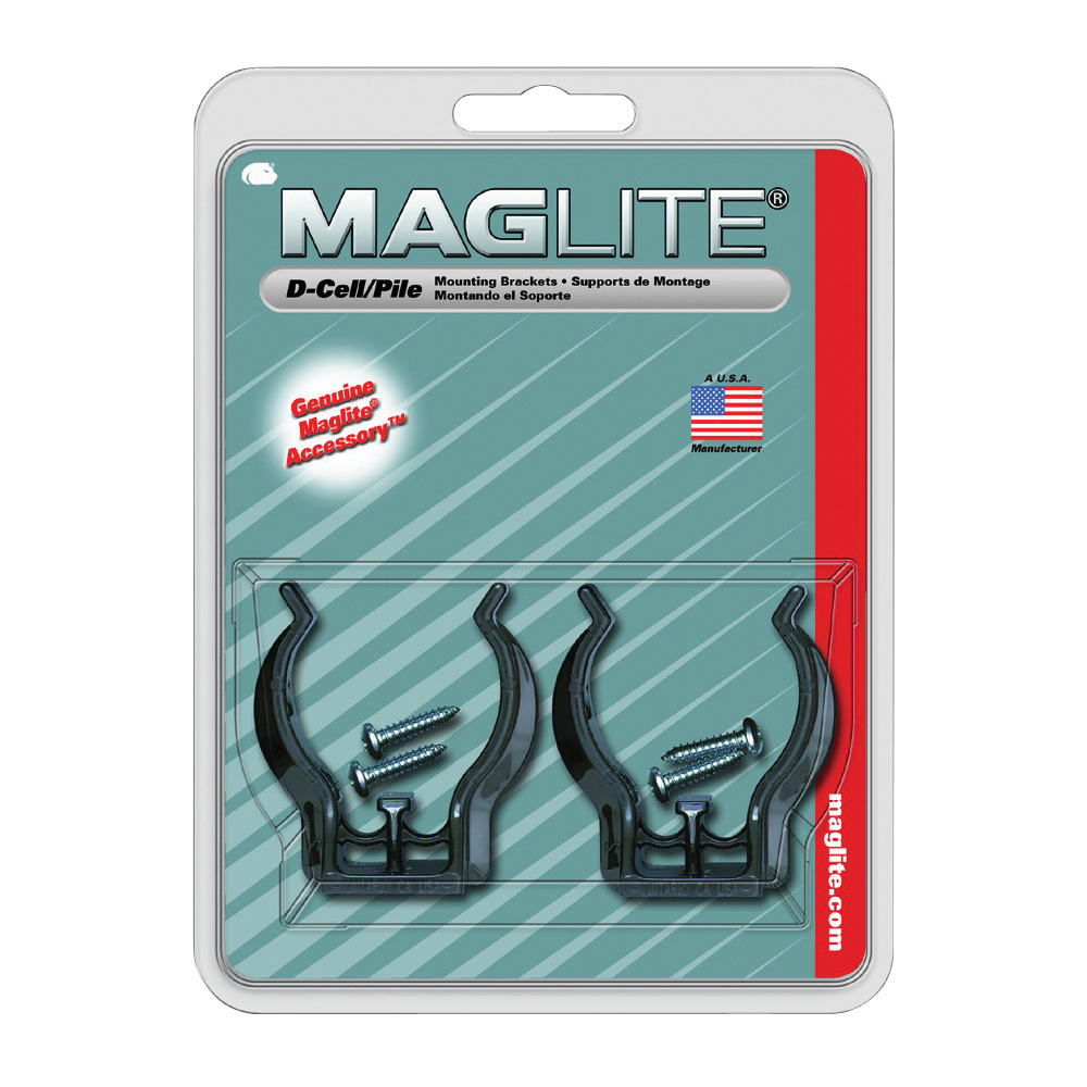 Picture of MAGLITE ASXD026 Mounting Bracket, ABS, Black, For: D-Cell Mag-Lites